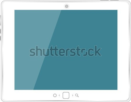 Vector white tablet computer Stock photo © fotoscool
