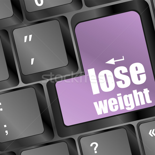 Lose weight in place of enter computer key Stock photo © fotoscool