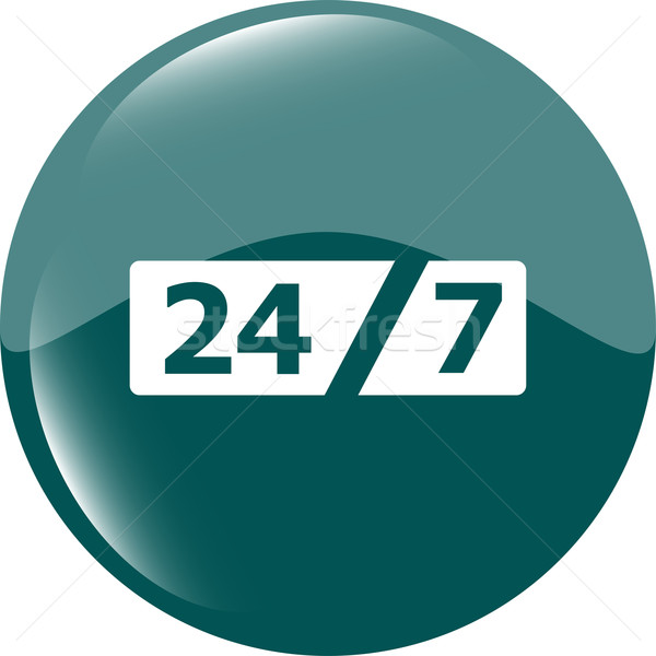 Service and support for customers. 24 hours a day and 7 days a week icon Stock photo © fotoscool