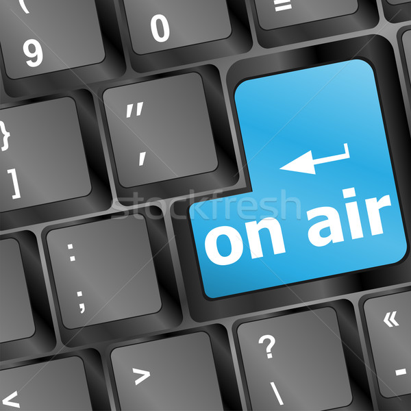 Radio aire botón negocios ordenador Foto stock © fotoscool