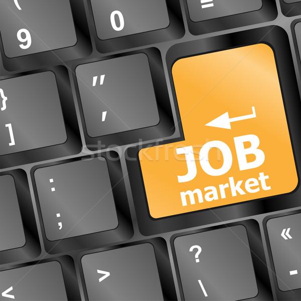 Baan markt sleutel toetsenbord business teken Stockfoto © fotoscool