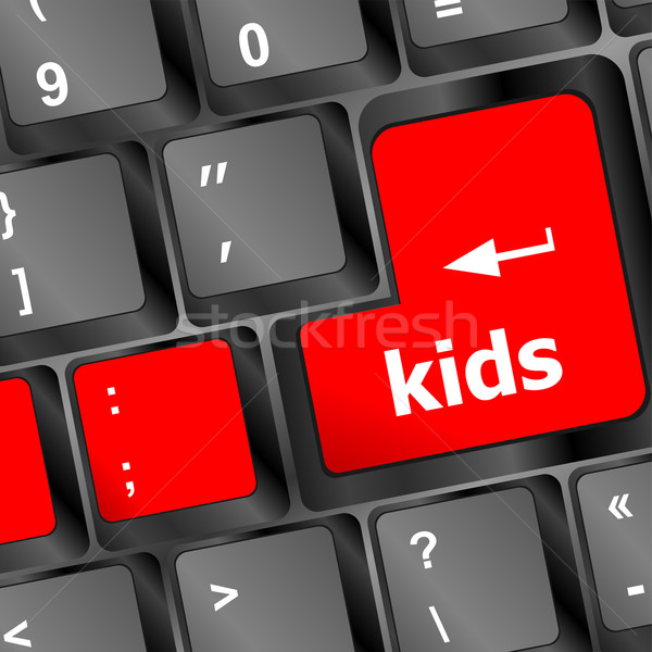 kids key button in a computer keyboard Stock photo © fotoscool