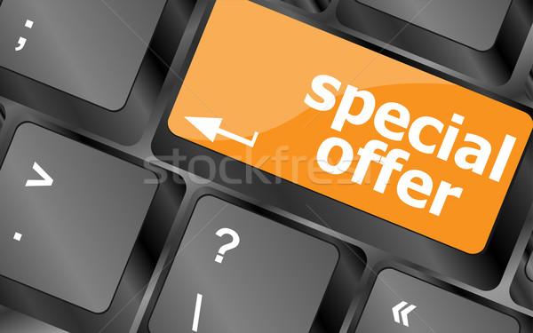Akció gomb számítógép billentyűzet kulcsok üzlet terv Stock fotó © fotoscool