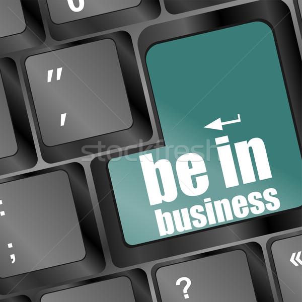 Kulcs üzlet szöveg laptop billentyűzet számítógép technológia Stock fotó © fotoscool