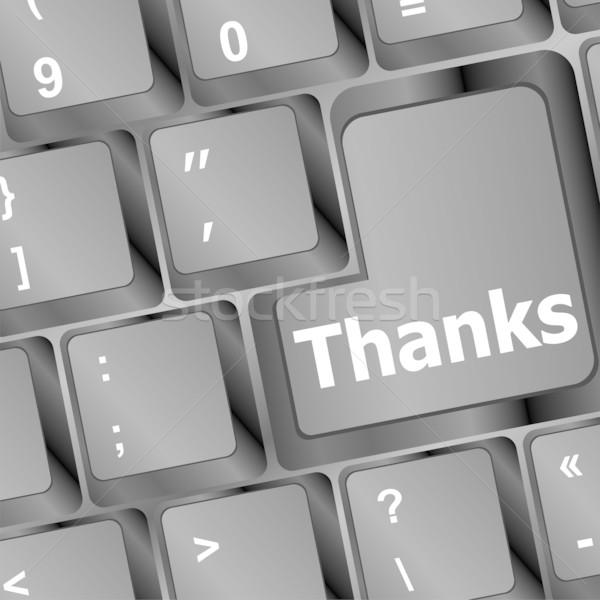 Köszönet üzenet belépés kulcs billentyűzet iroda Stock fotó © fotoscool