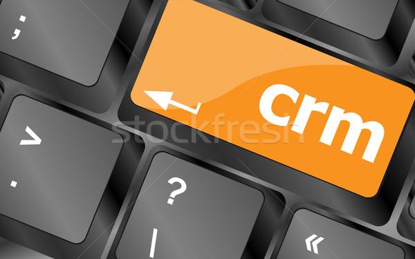 Crm billentyűzet kulcsok gomb számítógép pc Stock fotó © fotoscool