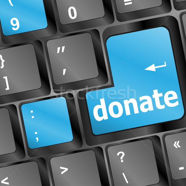 donate key word on computer keyboard Stock photo © fotoscool