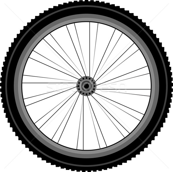 detailed Front wheel of a mountain bike Stock photo © fotoscool