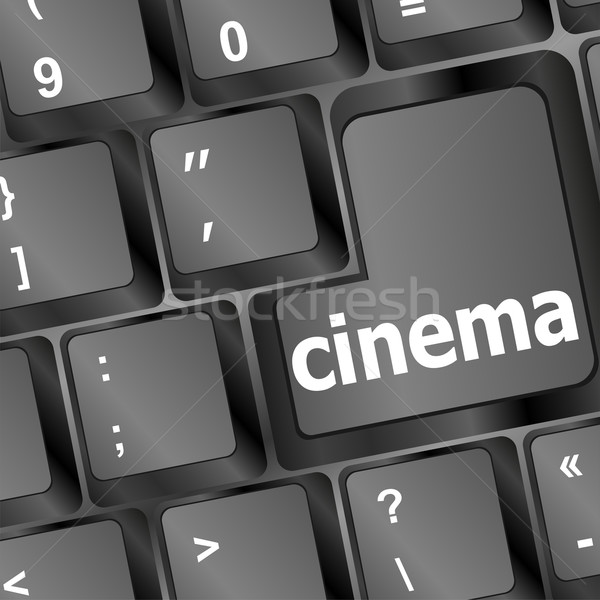 Cinema sign button on keyboard Stock photo © fotoscool