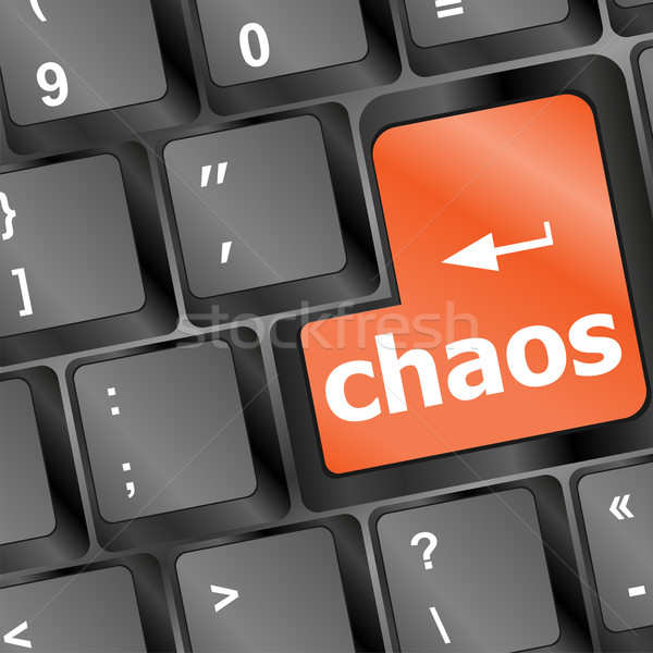 chaos keys on computer keyboard, business concept Stock photo © fotoscool