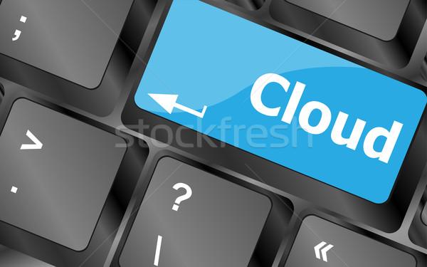 Teclado chave botão negócio internet Foto stock © fotoscool