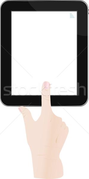 Maschio mano touchpad pc uno Foto d'archivio © fotoscool