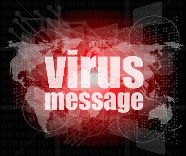 Internet szavak vírus üzenet digitális képernyő Stock fotó © fotoscool