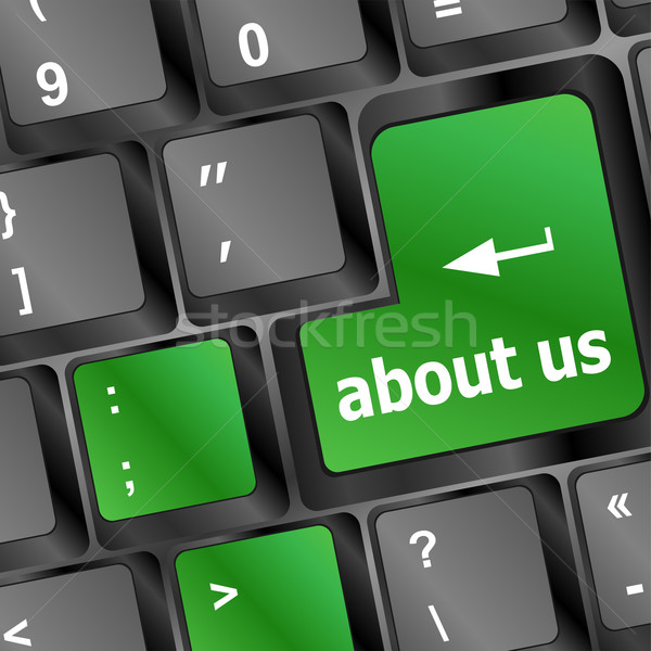 about us message on keyboard enter key Stock photo © fotoscool