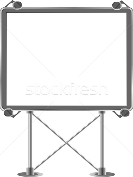 Grand outdoor billboard over white Stock photo © fotoscool