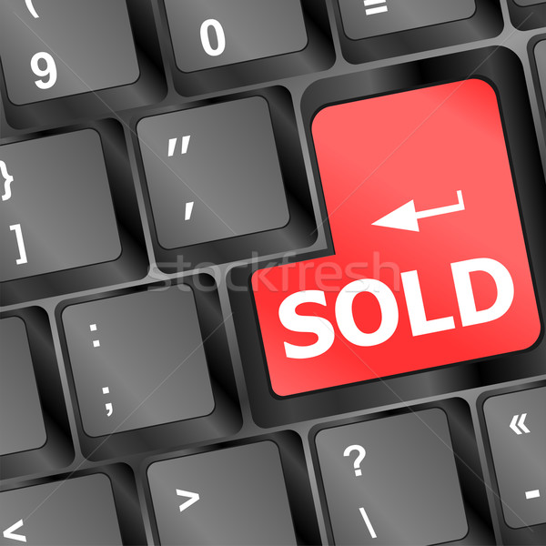 Wording sold on computer keyboard, business concept Stock photo © fotoscool