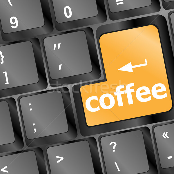 computer keyboard with coffee break button Stock photo © fotoscool