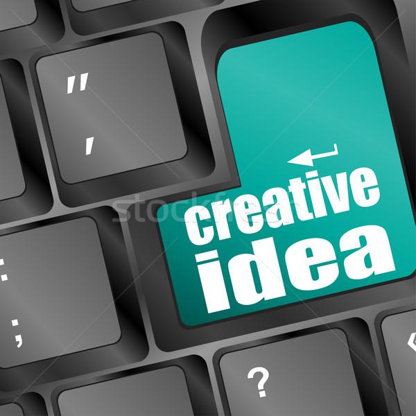 Computer keyboard with creative idea key Stock photo © fotoscool
