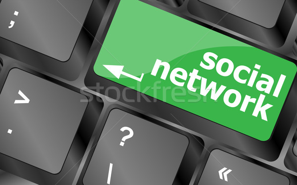 Social network keyboard key button Stock photo © fotoscool