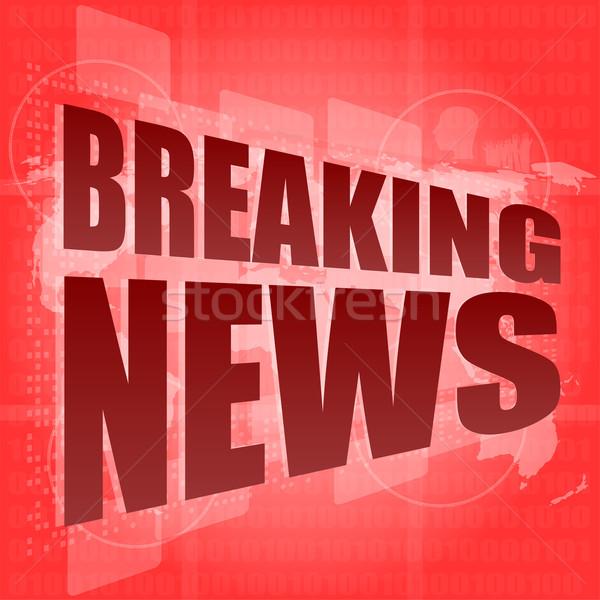 ニュース キーを押します 単語 ニュース速報 デジタル 画面 ストックフォト © fotoscool