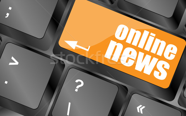 online news button on computer keyboard key Stock photo © fotoscool