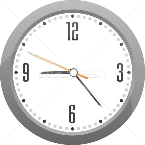 Vektör gri saat ayrıntılı yalıtılmış beyaz Stok fotoğraf © fotoscool