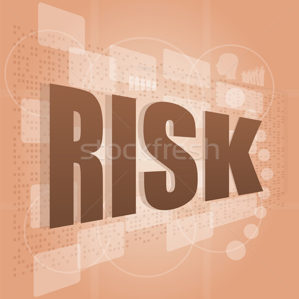 words risk management on digital screen, business concept Stock photo © fotoscool
