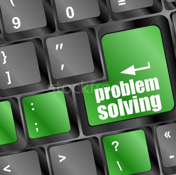 problem solving button on computer keyboard key Stock photo © fotoscool