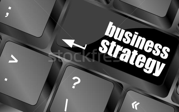 business strategy - business concepts on computer keyboard, business concept Stock photo © fotoscool
