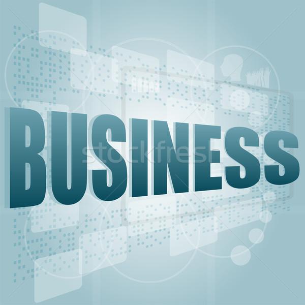 Palabras negocios digital Screen mano seguridad Foto stock © fotoscool