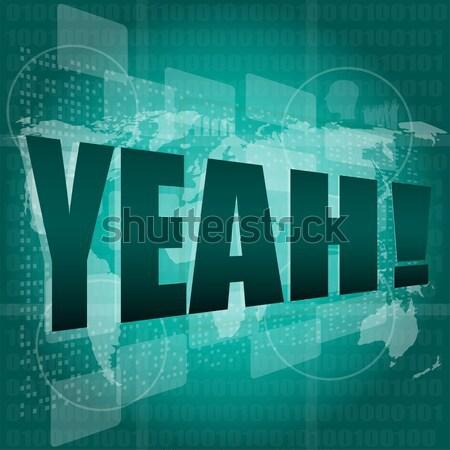 Marketing parole virale digitale schermo cliente Foto d'archivio © fotoscool