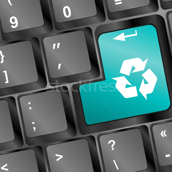 Sleutel recycleren business internet Stockfoto © fotoscool