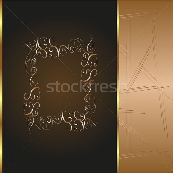frame and border with gold pattern Stock photo © fotoscool