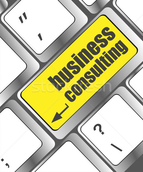 Számítógép billentyűzet üzlet tanácsadás kulcs számítógép iroda Stock fotó © fotoscool