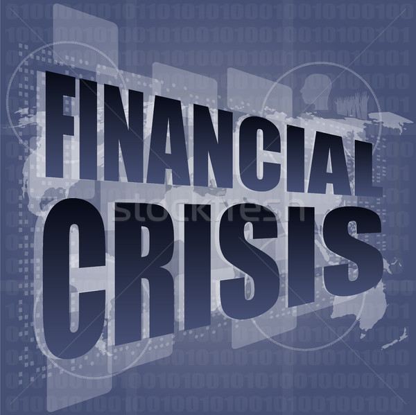 financial crisis concept - business touching screen Stock photo © fotoscool