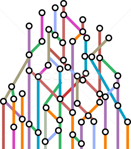 Abstract background of a subway map. Vector Stock photo © fotoscool