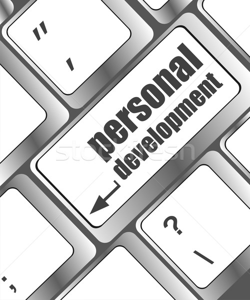 Keyboard with enter button personal development Stock photo © fotoscool