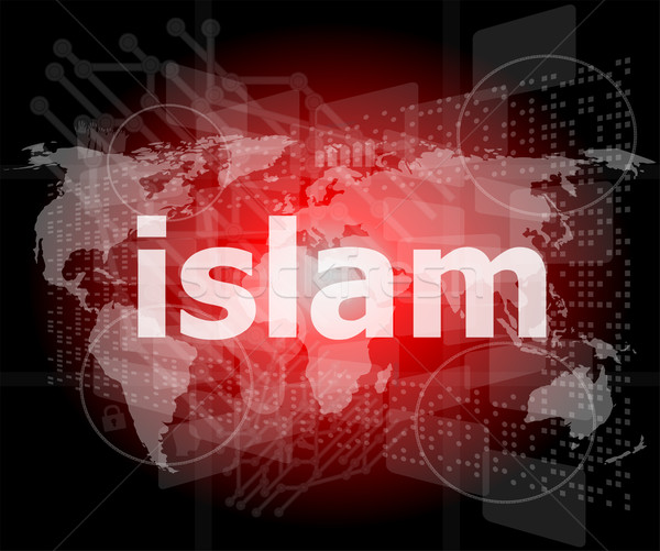 Islam digitale business computer internet Stockfoto © fotoscool