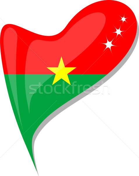 burkina faso in heart. Icon of burkina faso national flag Stock photo © fotoscool