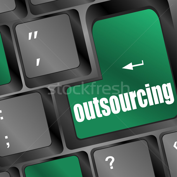 Outsourcing key on laptop keyboard Stock photo © fotoscool