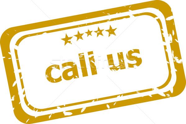 Oproep stempel geïsoleerd witte internet telefoon Stockfoto © fotoscool