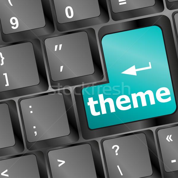 Gomb számítógép billentyűzet internet munka billentyűzet hálózat Stock fotó © fotoscool