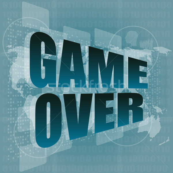 game over message on touch screen Stock photo © fotoscool