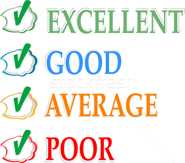 Concept of good credit score for business Stock photo © fotoscool