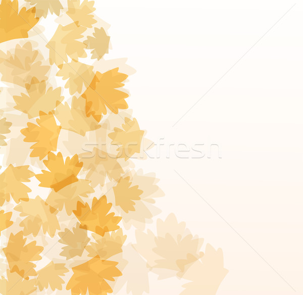 Beautiful autumn background with maple leaves Stock photo © fotoscool