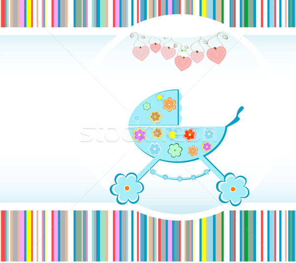 Baby boy arrival announcement card Stock photo © fotoscool
