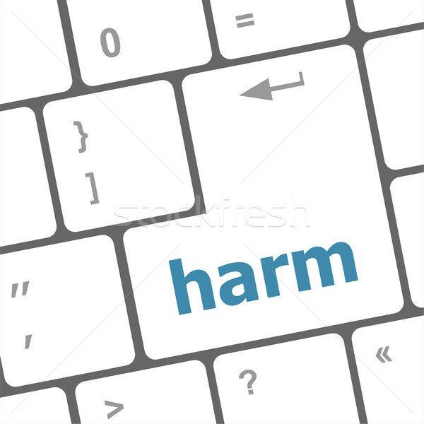 harm word on computer pc keyboard key Stock photo © fotoscool