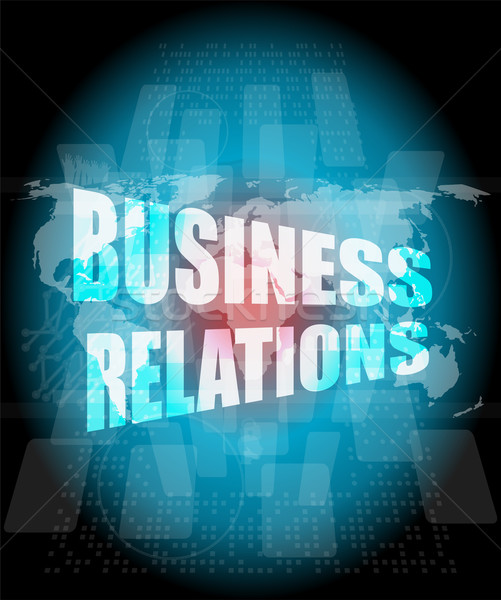 business relations interface hi technology, touch screen Stock photo © fotoscool