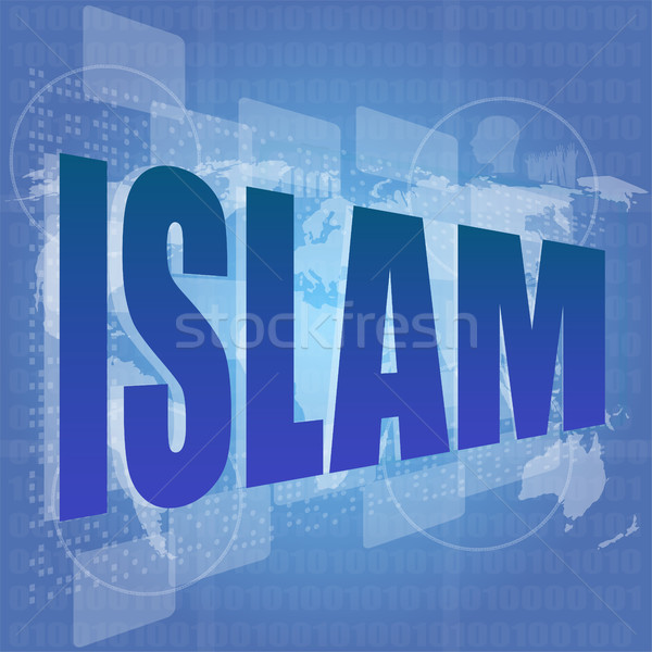 Islam woord digitale sociale internet Stockfoto © fotoscool