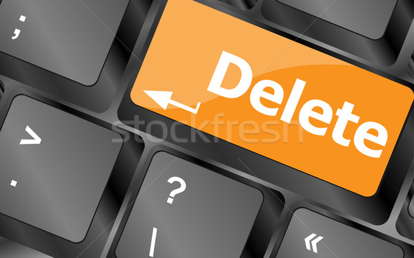 Computer keyboard - Red key Delete, business concept, vector illustration Stock photo © fotoscool
